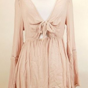 Bleuh Ciel Womens Medium Top Pink Blush Boho